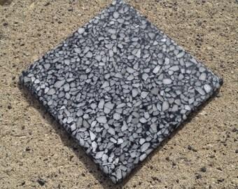 Stone Coaster - Black Coaster - Gray Coaster - Manufactured Stone - Coaster - Polished Stone - White Coaster - Home Decor
