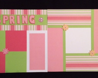 12x12 Two Page Pre-Made Layout - Spring