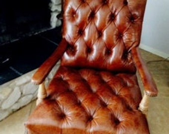 The Upcycle Habit Vintage Inspired Fireside Low Slung Lounge Club Arm Chair
