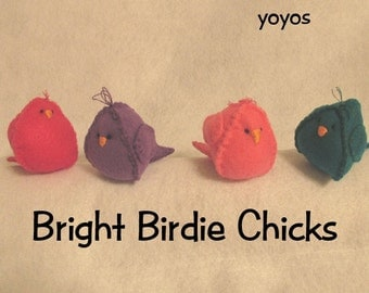 FELT BIRDS, CHICKS, Easter, Spring, Holiday Decor, Home Décor, Ornaments,  Table Decor, Nursery Decor, Shower Decor, Birthday