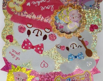Kamio Japan kawaii FUWAUSA 61pcs stickers flake/rabbit,bunny,decor
