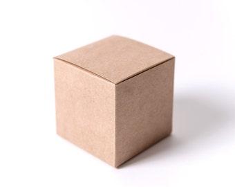25 Kraft Gift Boxes 4x4x4