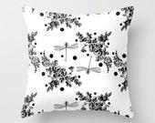 Midnight Garden Throw Pillow - Geometric Pillow - Modern Decor - Throw Pillow - Urban Decor - by Beverly LeFevre