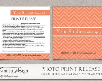 Photography Print Release, 5x5 Template for Adobe Photoshop, sku5-13