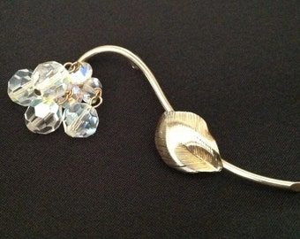 Vintage A/B Crystal Flower Brooch