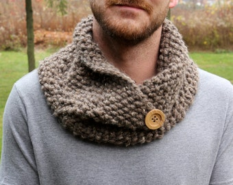 Asymmetrical Knit Cowl - Made to Order