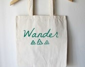 Canvas Shopping Tote // Hand Pulled Screen Print //