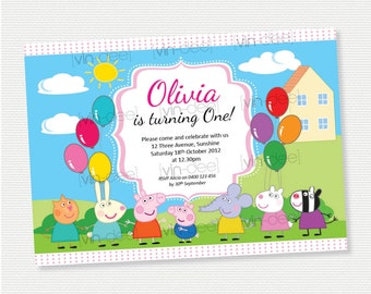 Peppa Pig and Friends Birthday Invitation - DIY Printable