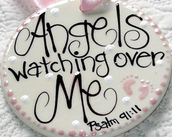 Personalized Ceramic Ornamnet  'Angels Watching Over Me'
