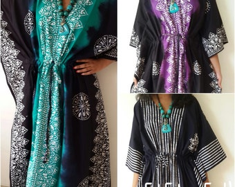 Set of 3 Nursing Gowns, Maternity Gown, Hospital Gown, Feeding Gown, Maternity Dress, Caftan, Night Wear, Cover Up, Resort Wear, Plus Size