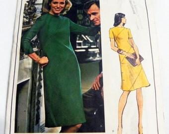 """1970s A Line Dress Molyneux sewing pattern Vogue 1107 Paris Original Size 18 Bust 40"""""""