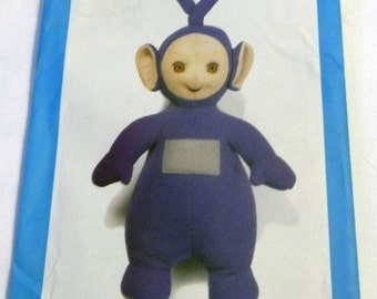 Teletubbie Tinky Winky Stuffed Doll Craft sewing pattern Butterick 5976 UNCUT FF