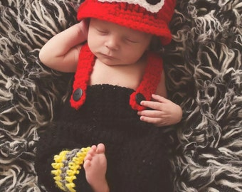 Infant Fire Fighter Outfit