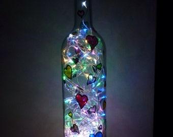 Wine glass bottle light
