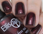 The Duke's Darling - Gorgeous Dark Red Vegan Nail Lacquer - As Gifted to Giuliana Rancic - 3-free, colored with natural mica