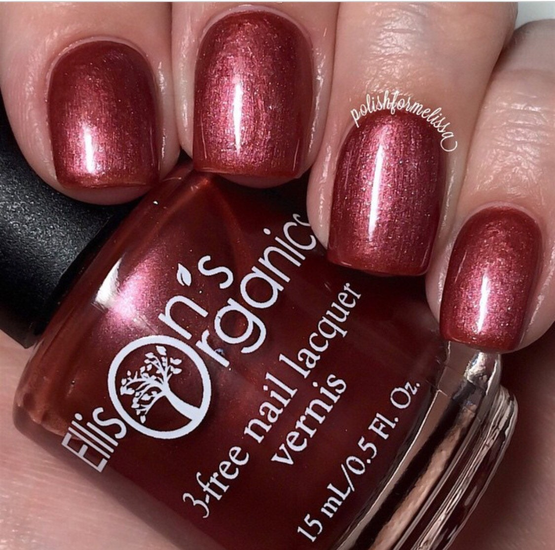 Wine Country Maroon Red 3-free Nail Lacquer Burgundy And