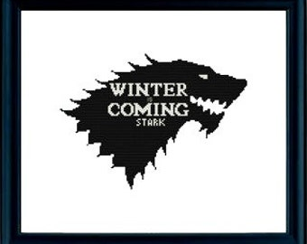 Cross Stitch Pattern PDF - Game of Thrones / House Stark / Winter is Coming