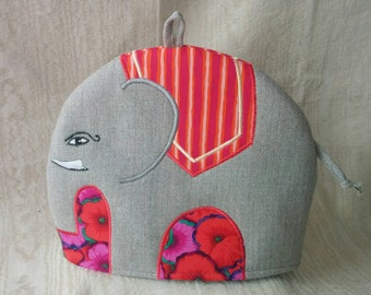 Rupert- an Embroidered Tweed Elephant Tea Cosy
