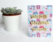 Scrabble Inspired New Home Card, Home Sweet Home Card, Scrabble Inspired Greetings Card