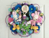 Disney Easter Wreath, Mickey and Minnie Easter Wreath