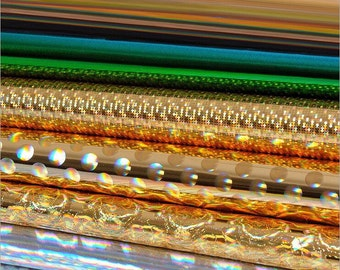 3D Magic Pattern Holographic Leather Fabric,Shiny PU 3D Pattern Leather Fabric,Holographic Leather.Wide 54'' Sold By Half Yard