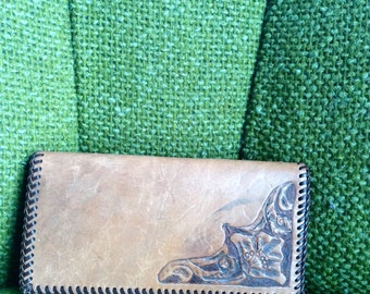 Very Vintage Floral Handtooled Wallet