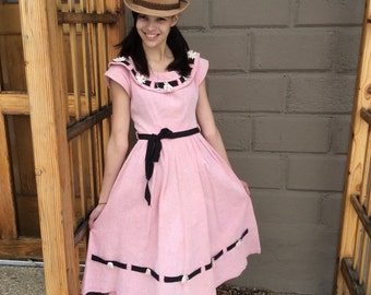 Vintage 1950s Circle Dress