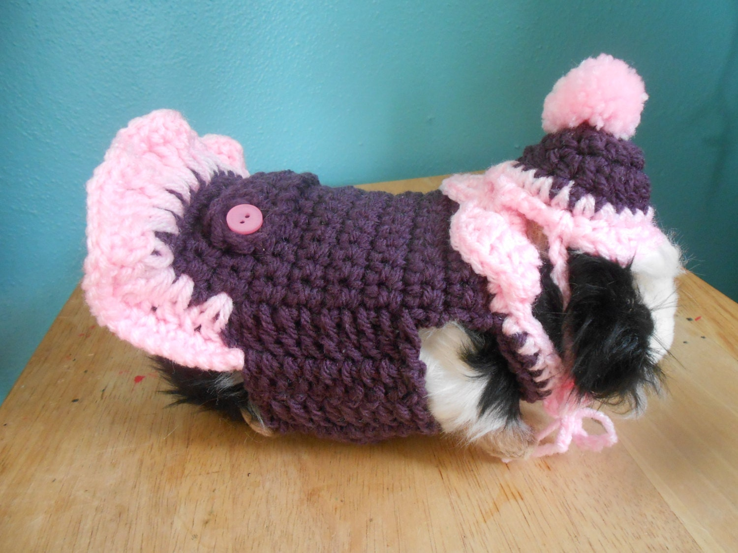 Guinea pig Sweater Crocheted Dress for Guinea pig with