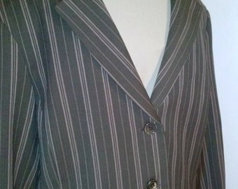 Vintage New Without Tags BCBG Maxazria 2 Piece Skirt Jacket Suit Brown and Pink Stripe