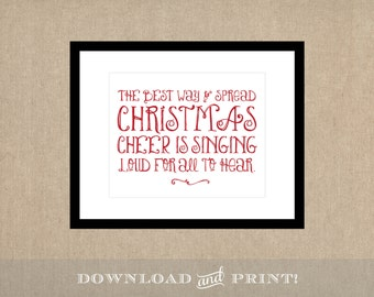 Instant Downloadable Elf Holiday Print