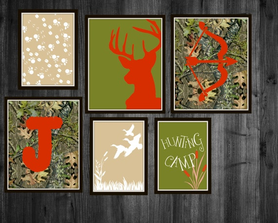 Camo Nursery Wall Decor : Hunting nursery prints camo boys deer