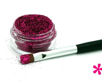 RASPBERRY Cosmetic Glitter for Makeup, Eye Shadow, Lips, Nail Polish, Body Shimmer & Hair Sparkle (A013)