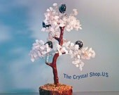 Cyber Sale! Huge Savings! Rose Quartz Tree with Black Tourmaline 8 1/2 inches tall! Makes a great gift!