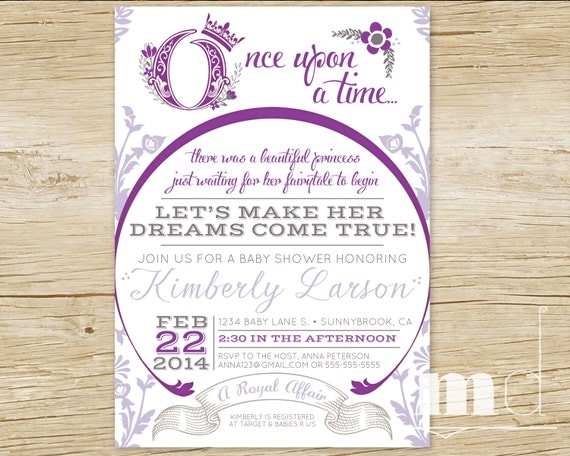 once upon a time baby shower invitations fairytale baby shower