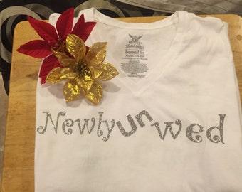 Personalized newly unwed shirt