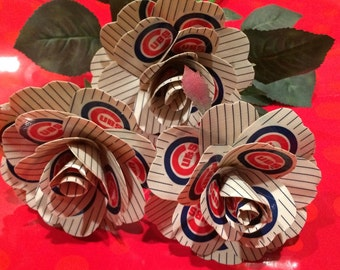 Chicago Cubs Duct tape long stem Rose / 2016 World Series