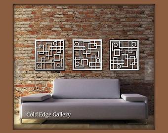 Metal Wall Art, Decor, Abstract, Contemporary, Modern, Sculpture,  Industrial Art