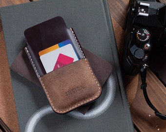 Horween Chromexcel iPhone 6 manches en cuir affaire Wallet Ox sang Bourgogne