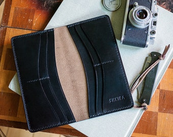 Black Horween Chromexcel Leather Coat Wallet