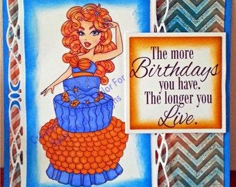 6x6 Size Novilty Birthday Card
