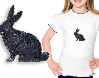 Iron On Rabbit Bunny Patch Applique