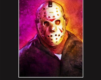 Jason Voorhees 3 - 11X14 Matted Print - Signed by Joel Robinson