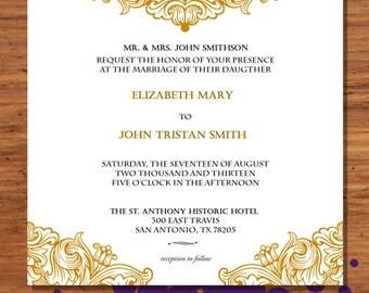 Digital Only - Elegant Deco Wedding Invitation