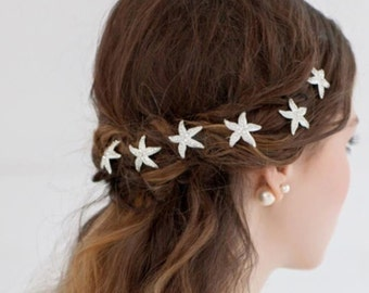 Rhinestone Starfish Hair Pin Bridal Beach Wedding
