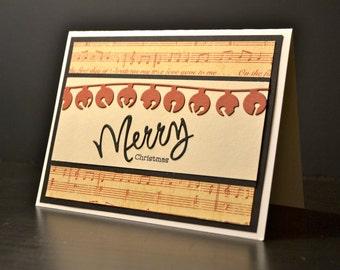 Handmade Christmas Card, Merry Christmas Card, Holiday Card
