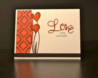 Valentine Card, Love You Alwayts Card, Valentine's Card, Anniversary Card