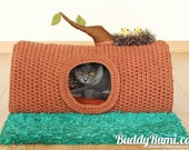 PATTERN: Pet crochet bed, cat cave t-shirt yarn A House in the Forest
