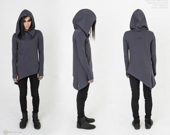 "Long sleeve-tunic ""Crow Gray"", Лонгслив-туника ""Crow Gray"""