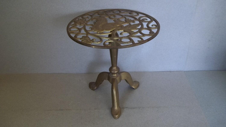 Vintage Brass Pedestal Brass Plant Stand Vintage Brass