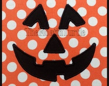 Pumpkin Face Applique Embroidery Design  Machine Embroidery Applique Jack-o-Lantern  Hallowen Embroidery Design Fall Embroidery Design